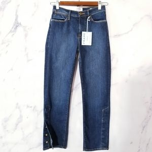 New FRAME Le High Straight High-Rise Jeans